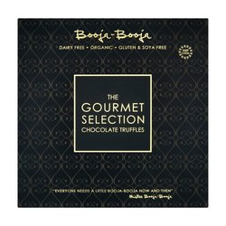 'Gourmet Selection' Dark Organic Chocolate Truffles 230g by Booja-Booja (Dairy Free, Vegan)