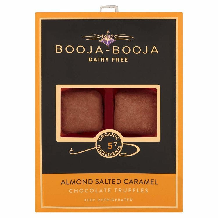 Almond & Sea Salt Organic Chocolate Truffles 69g by Booja-Booja (Dairy Free, Vegan)