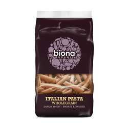 Organic Wholegrain Penne Pasta (Bronze Extruded) 500g by Biona