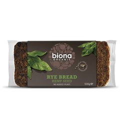 Organic Rye & Hemp Seed Bread 500g by Biona