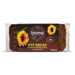 Organic Rye & Sunflower Seed Bread 500g by Biona