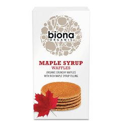 Organic Maple Syrup Waffles with Rich Maple Syrup Filling 175g by Biona