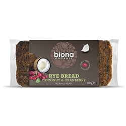 Organic Cranberry & Coconut Rye Bread 500g by Biona