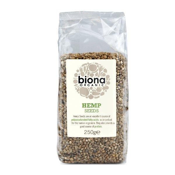 Organic Hemp Seeds 250g by Biona