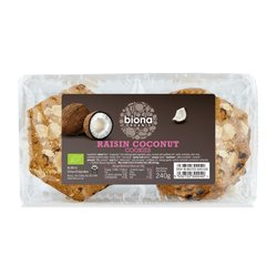 Organic Raisin & Coconut Cookies 240g by Biona