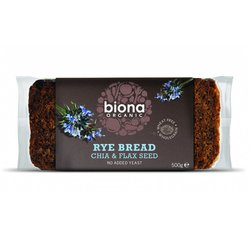 Pack of 6 Organic Rye Bread with Chia & Flax Seed (6 x 500g) by Biona
