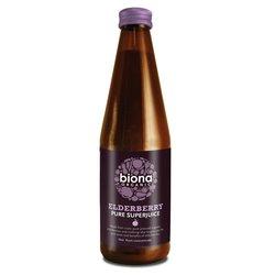 6 x Organic Pure Elderberry Juice 330ml by Biona