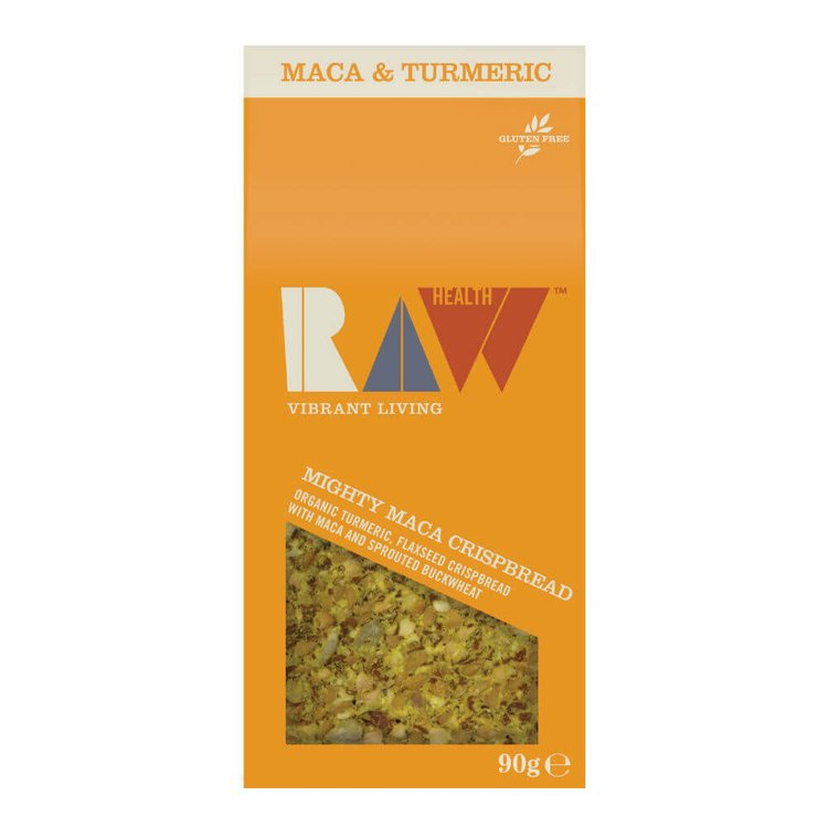 Organic Mighty Maca Crispbread with Turmeric, Flaxseed & Sprouted Buckwheat by Raw Health