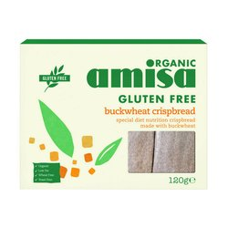 Organic Buckwheat Crispbread 120g by Amisa (Gluten Free)