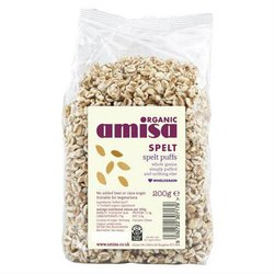 Organic Spelt Puffs Whole Grain Cereal 200g by Amisa