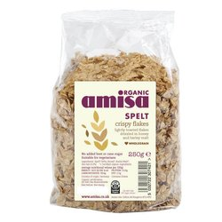 Organic Crispy Spelt Flakes 250g by Amisa
