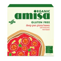 Organic Deep Pan Pizza Bases 260g by Amisa (Gluten Free)
