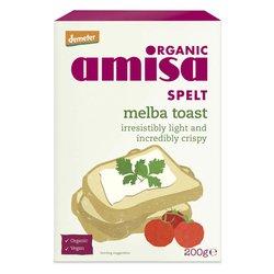6 x Organic Spelt Melba Toast 200g by Amisa