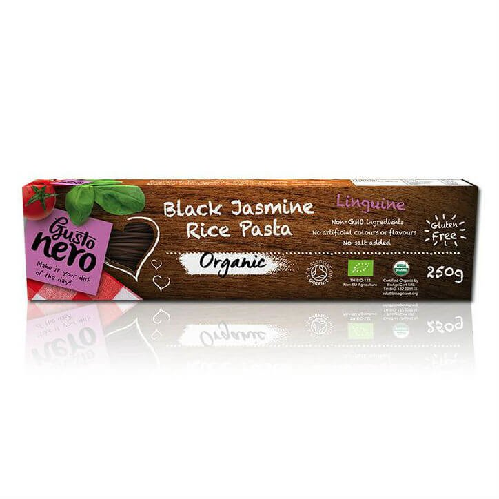 2 x Black Jasmine Rice Linguine Pasta 250g (Organic, Gluten-Free)