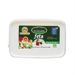 Organic Greek Feta Cheese PDO 300g by Ecofarma