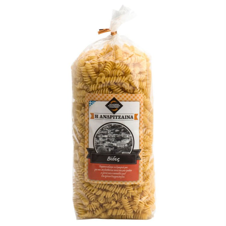 Handmade Greek 'Vides' Pasta (Fusilli) 500g
