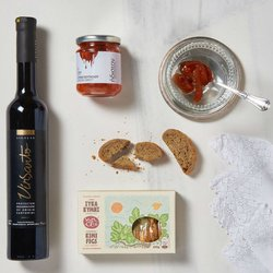 'Ultimate Dessert' Greek Gift Tote Bag with White Wine, Dried Figs & Rusks
