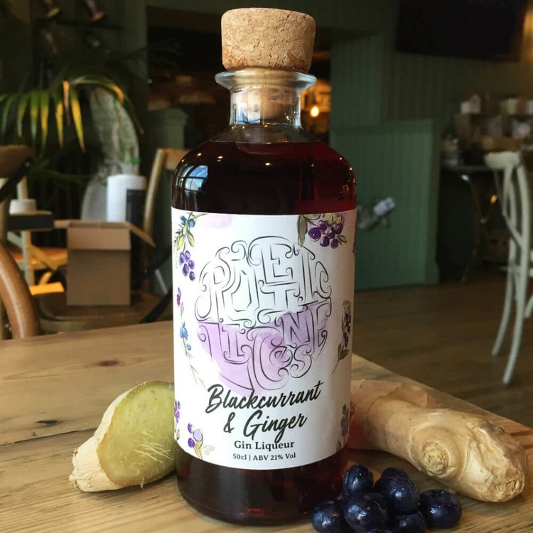 Blackcurrant & Ginger Artisan Gin Liqueur 50cl 21% Vol.
