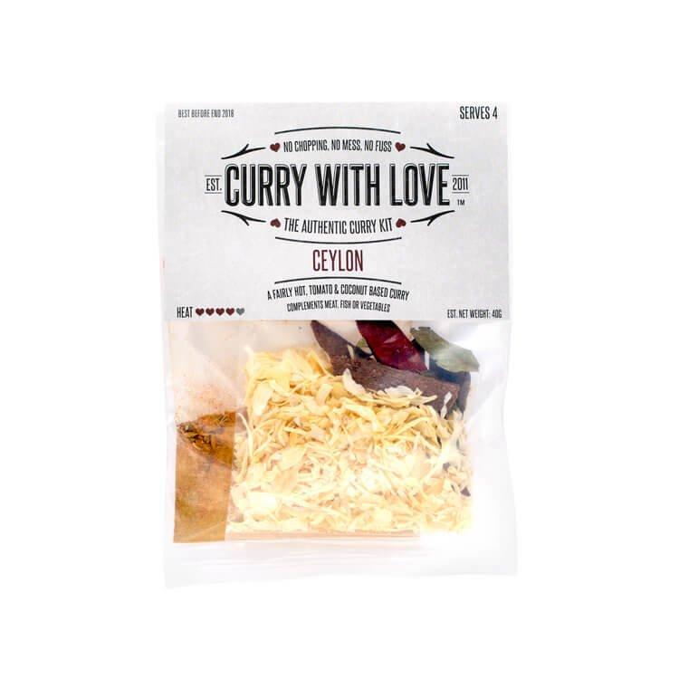 Fairly Hot Ceylon Curry Spices Kit 40g