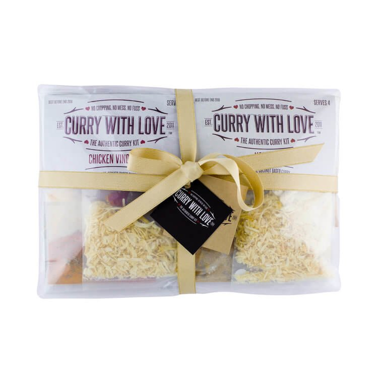 'Indian Delights' Curry Spices Kit Gift Set Inc. 10 Curry & Side Dishes Kits
