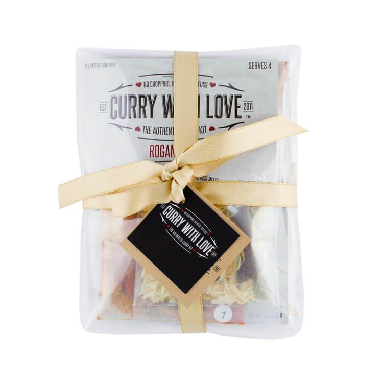 'Healthy Happiness' Mild-Medium Curry Kit Gift Set Inc. Bhuna, Balti & Rogan Josh Spices Mixes