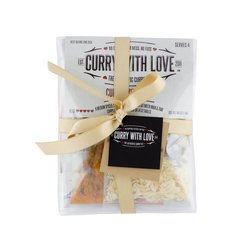 'The Gift of Love' Curry Kits Gift Set with Tikka Masala, Jalfrezi & Coconut Curry Spice Blends