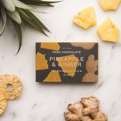 Organic Raw Pineapple & Ginger Handmade Chocolate Bar 45g
