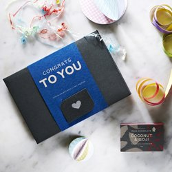 Organic 'Congrats to You' Raw Handmade Chocolate Gift Box
