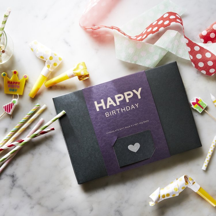 Organic 'Happy Birthday' Raw Handmade Chocolate Gift Box