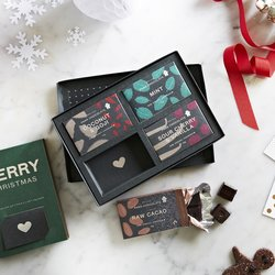 Organic 'Merry Christmas' Raw Handmade Chocolate Gift Box