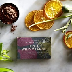 Organic Raw Fig & Wild Orange Handmade Chocolate Bar 45g