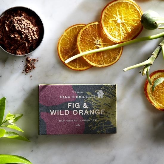 Organic Raw Fig & Wild Orange Handmade Chocolate Bar 45g