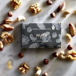 Organic Raw Hazelnut, Brazil & Walnut Handmade Chocolate Bar 45g