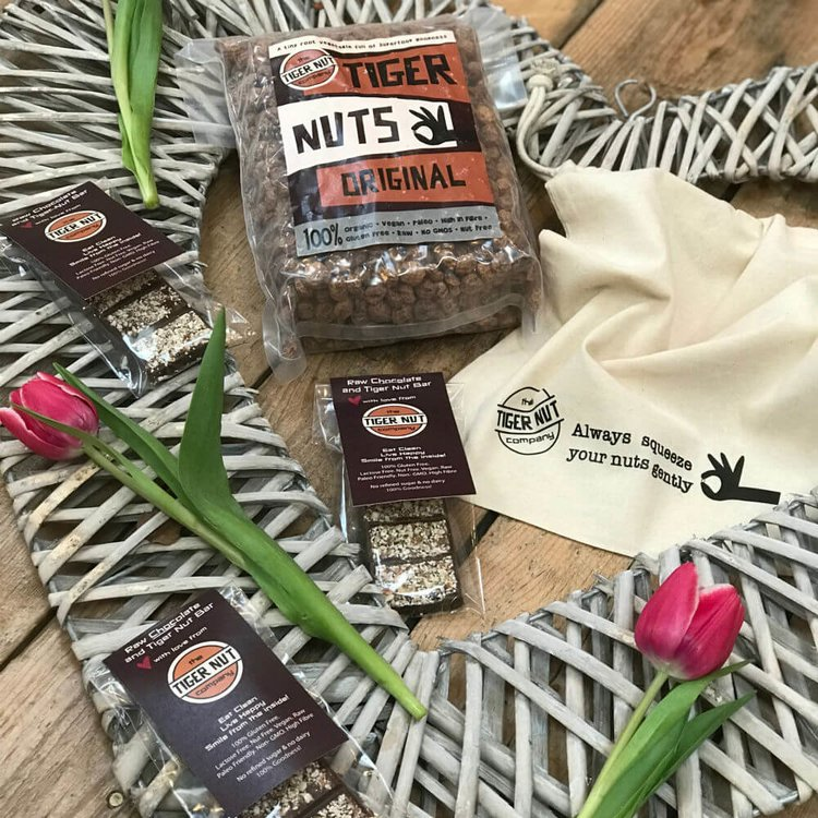 Valentine's Tiger Nut Gift Pack with Tiger Nuts Original, Nut Milk Bag & Chocolate Bars
