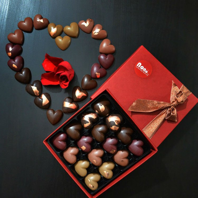 'Long Time Love' Raw Superfood Chocolate Truffles Gift Box Functional Foods