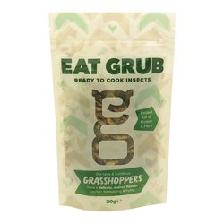 Edible Organic Grasshoppers 20g (High Protein, Edible Insect Snack)