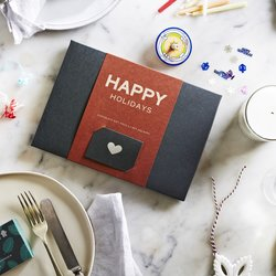 Organic 'Happy Holidays' Raw Handmade Chocolate Gift Box