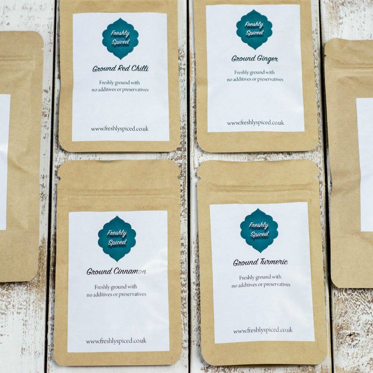 6 Cupboard Essentials Spice Blends Set Inc. Turmeric, Cumin, Chilli & Ginger