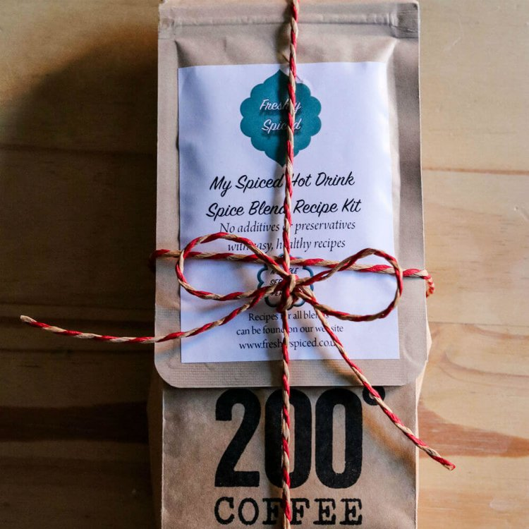 Coffee & Spice Lover Set with Ground 200 Degrees Espresso Coffee & Spice Blend