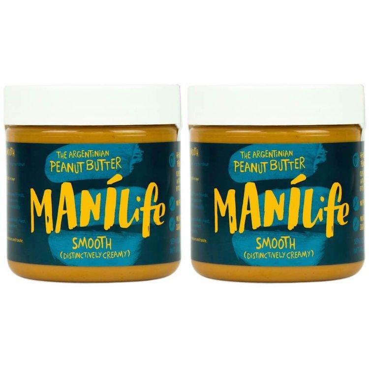 2 x ManiLife Smooth Peanut Butter 295g (Argentinian Hi-oleic)