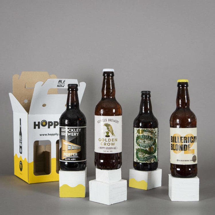 Classic Craft Beer Gift Box with 4 British Beers 500ml