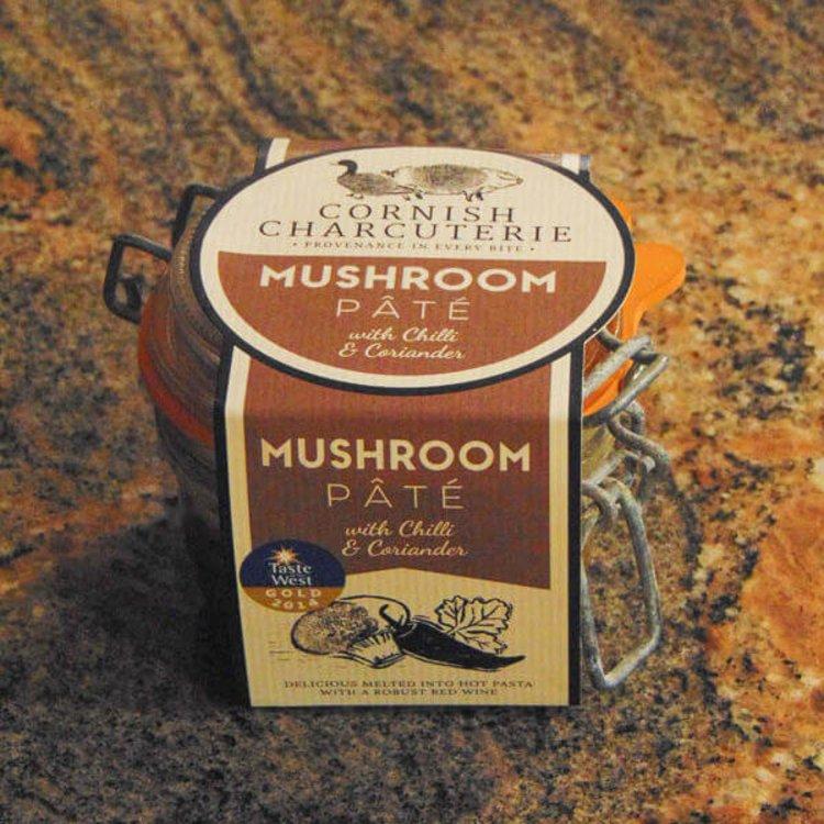 Mushroom, Chilli & Corriander Pâté 110g by Cornish Charcuterie
