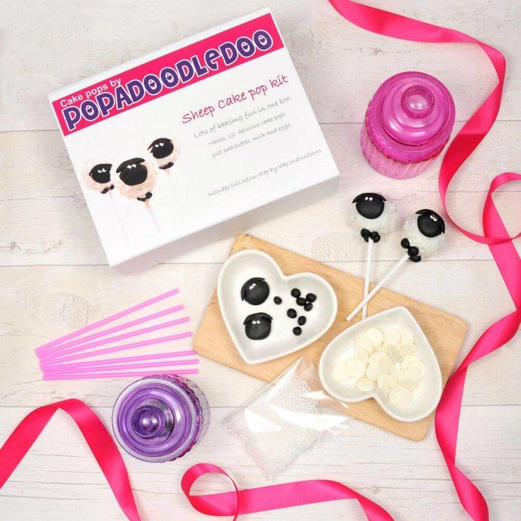 Sheep Cake Pop Gift Kit - Vanilla Flavour