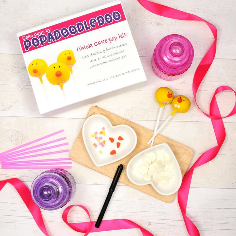 Chick Cake Pop Gift Kit - Chocolate Flavour
