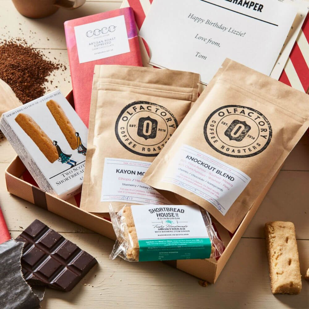 Coffee Lovers Gift Letter Box Hamper Inc. Olfactory Coffee