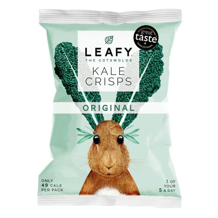 6 x Original Kale Crisps 10g by LEAFY