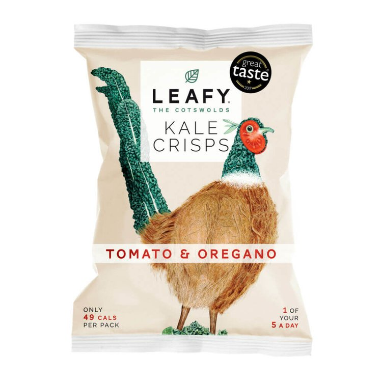 6 x Tomato & Oregano Kale Crisps 12g by LEAFY