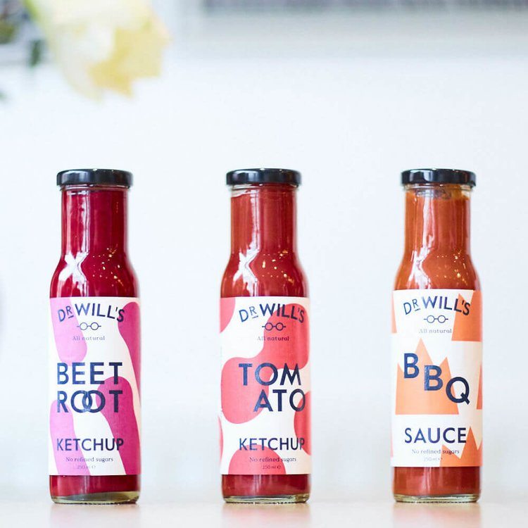 Set of Tomato Ketchup, Beetroot Ketchup & BBQ Sauce (3 x 250ml)
