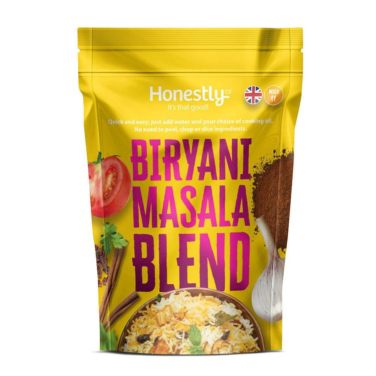 Mild Biryani Masala Curry Blend Meal Base 50g (Diced Onions, Herbs & Spices)
