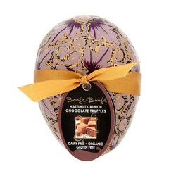 Small Easter Egg with Hazelnut Crunch Chocolate Truffles (3 Servings, Organic, Vegan)